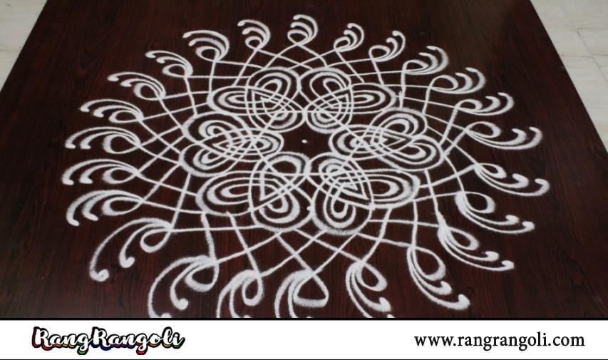 Geethala muggulu with 5*3 dots | Latest Padi kolams | Easy Lines Rangoli | RangRangoli