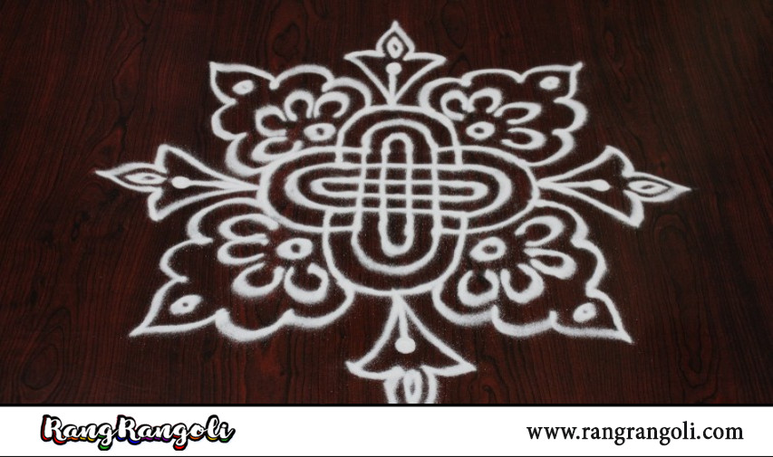 Simple Daily padi kolam | Easy geethala muggulu | Easy rangoli with lines | RangRangoli