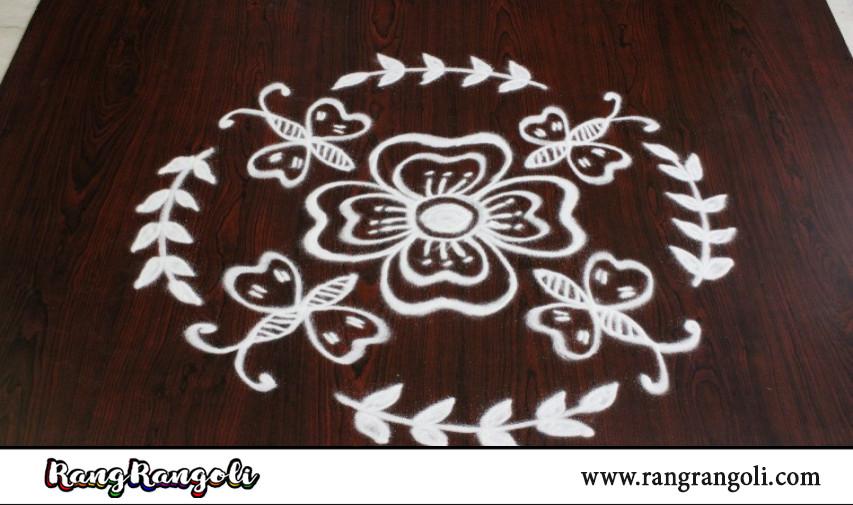 Freehand Butterfly rangoli | Simple daily kolams | Dhanurmasam muggulu | RangRangoli