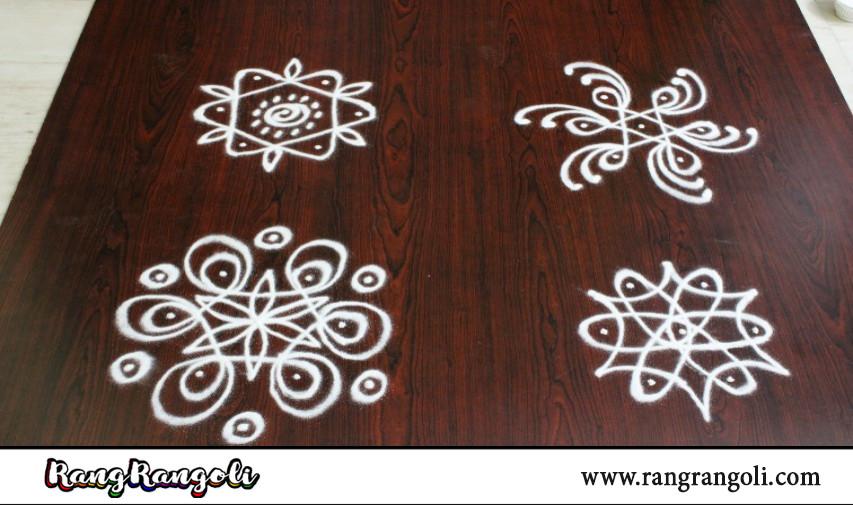 Simple 3 dots Melika Muggulu|Easy Sikku kolam for beginners|small daily rangoli designs| RangRangoli