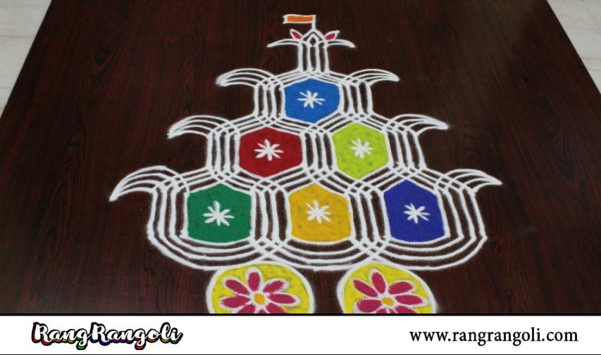 Radha Sapthami special Rangoli | Radham kolam | Radha Sapthami radham muggulu | RangRangoli