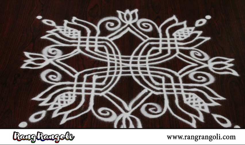 Easy Padi Kolam for friday | Latest Geethala Muggulu | Simple Rangoli with lines | RangRangoli