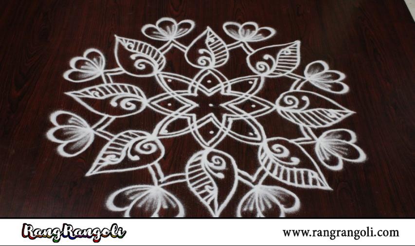 Creative Daily Rangoli with 5*1 dots | Latest Kolams | Chukkala muggulu | RangRangoli